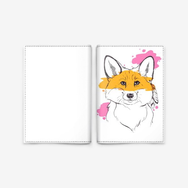 Обложка для паспорта «лисица индейка»