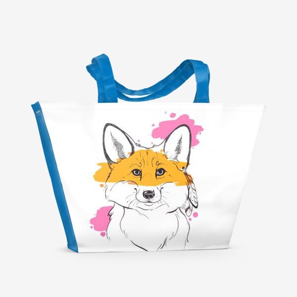 Пляжная сумка «лисица индейка»