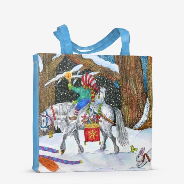 Сумка-шоппер «Новогодняя ночь в сказочном лесу»