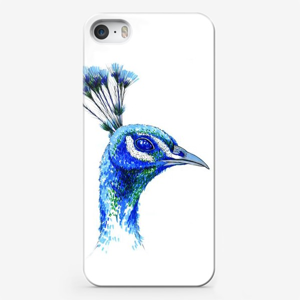 Чехол iPhone «Синий Павлин»