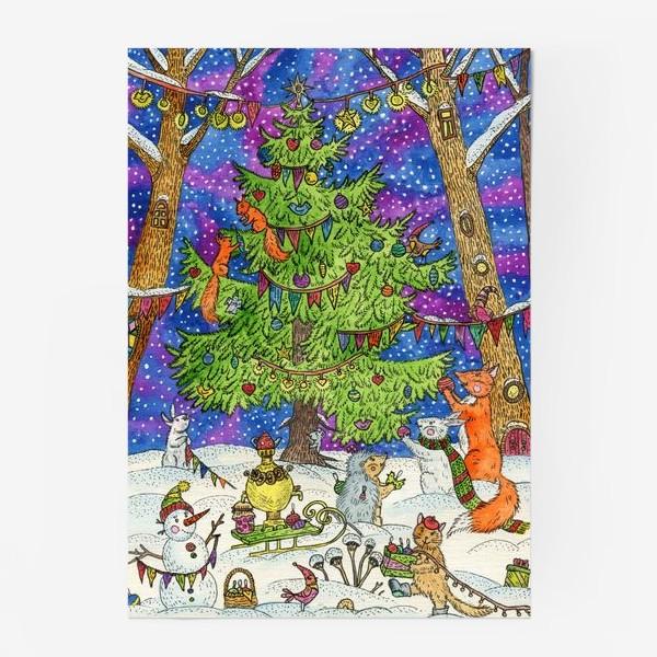 Постер «Новый год в сказочном лесу»