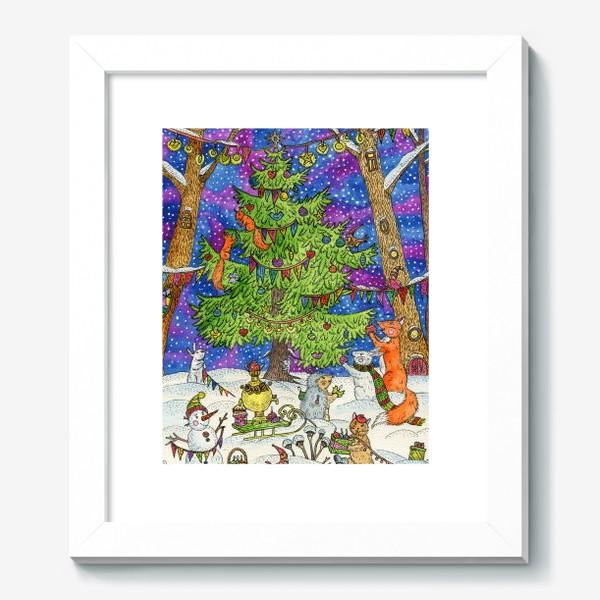 Картина «Новый год в сказочном лесу»