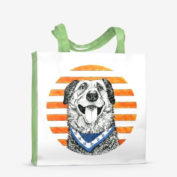Сумка-шоппер «Собака - моряк»