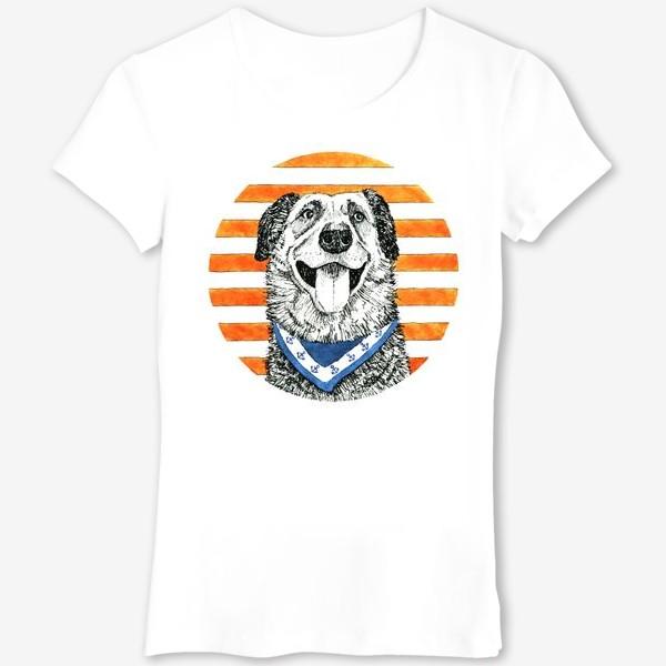 Футболка «Собака - моряк»