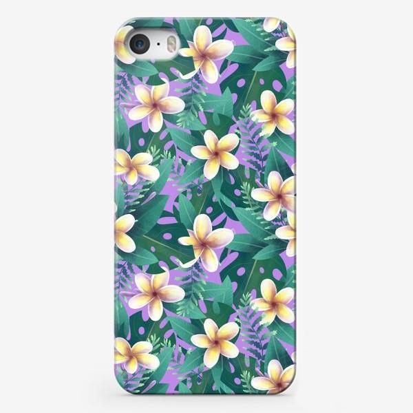 Чехол iPhone «экзотический паттерн на розовом фоне»