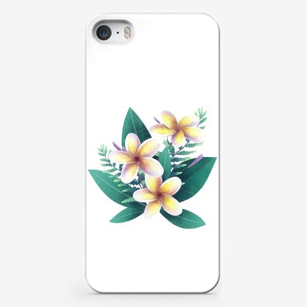 Чехол iPhone «плюмерия»