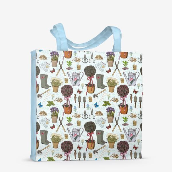 Сумка-шоппер «Радости садовода. Паттерн.»