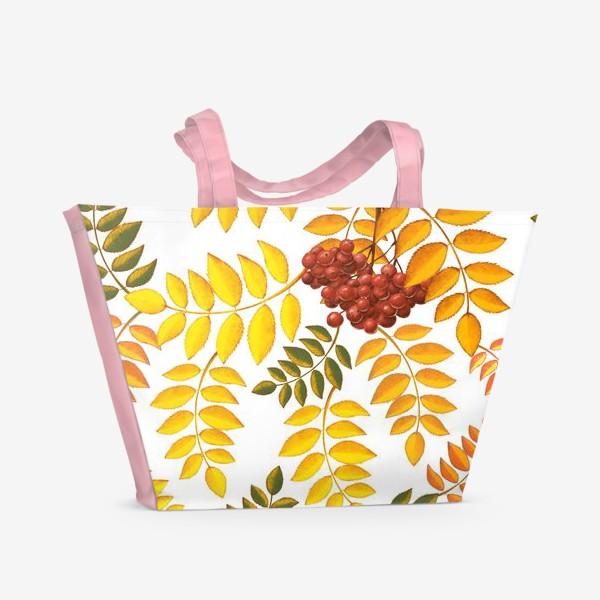 Пляжная сумка «лиственный паттерн»