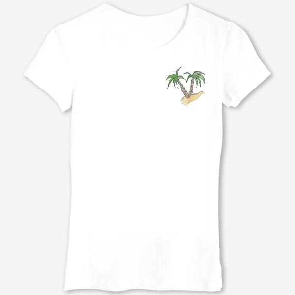 Футболка «Море и пальмы»