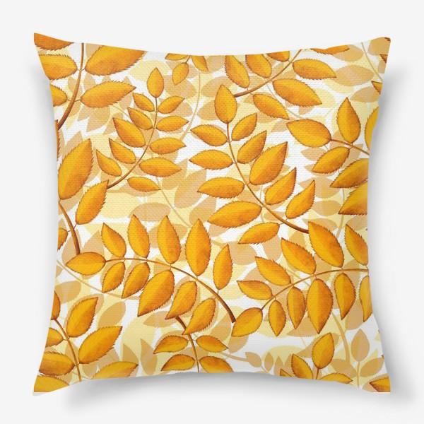 Подушка «лиственный паттерн»