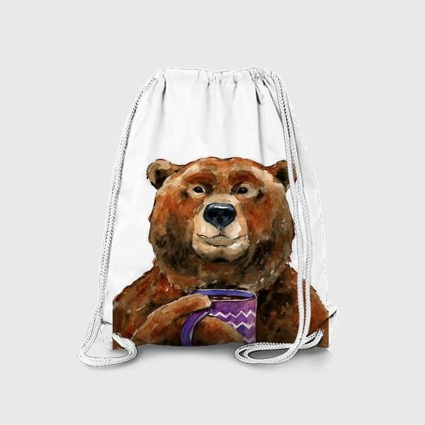 Рюкзак «Медведь пьет чай»