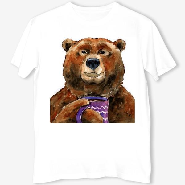 Футболка «Медведь пьет чай»