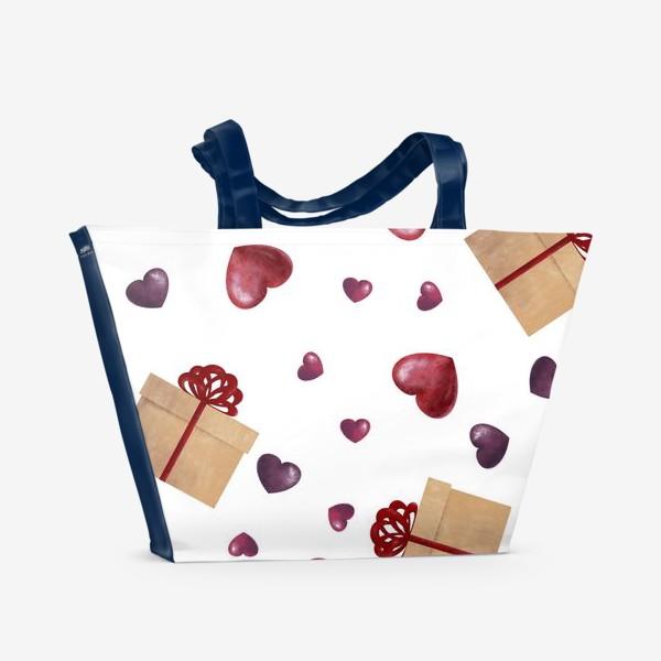Пляжная сумка «Сердечный подарок»