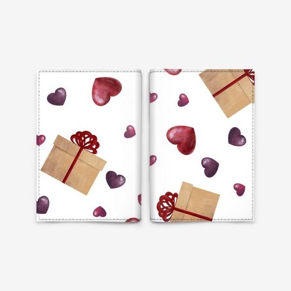 Обложка для паспорта «Сердечный подарок»