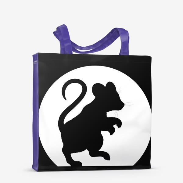 Сумка-шоппер «Тень мышки на стене»