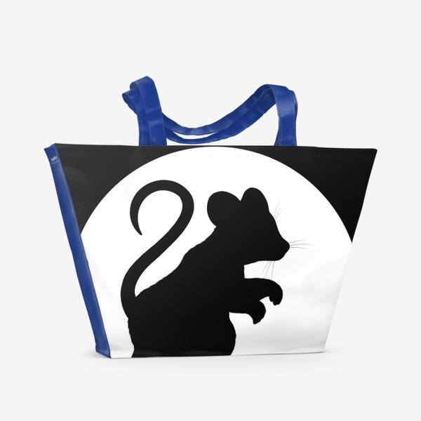 Пляжная сумка «Тень мышки на стене»