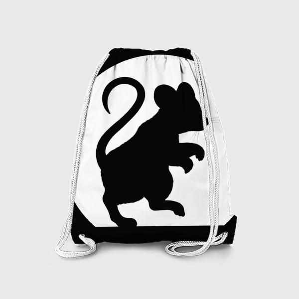 Рюкзак «Тень мышки на стене»