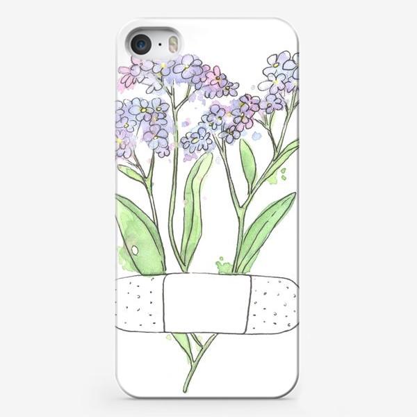 Чехол iPhone «незабудочки»