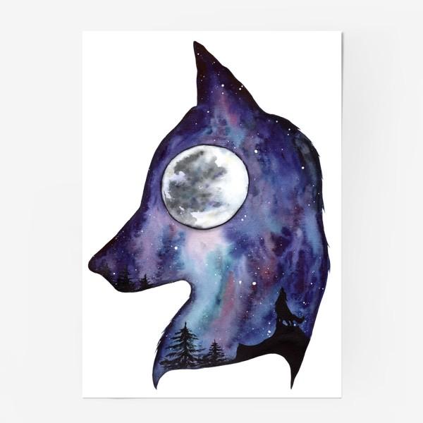 Постер «Волк. Луна и Космос.»