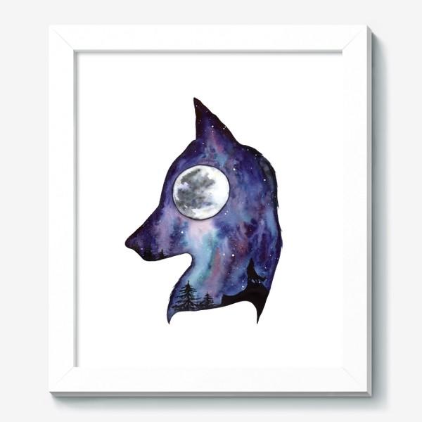 Картина «Волк. Луна и Космос.»