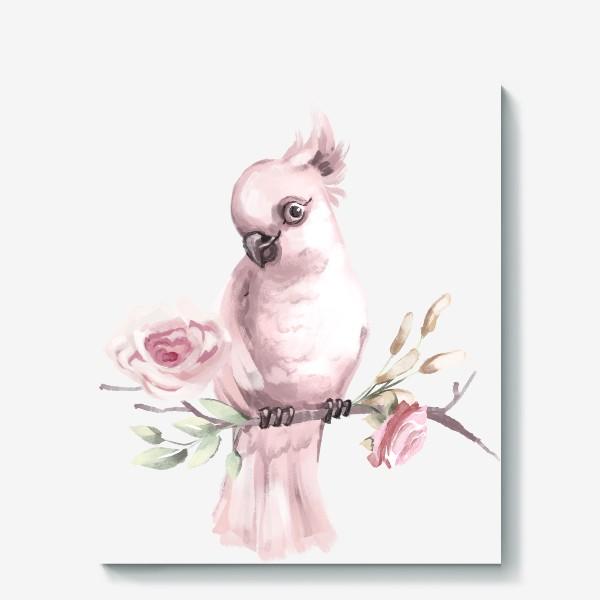 Холст «Розовый попугай»