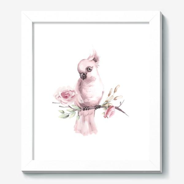 Картина «Розовый попугай»