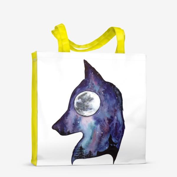 Сумка-шоппер «Волк. Луна и Космос.»