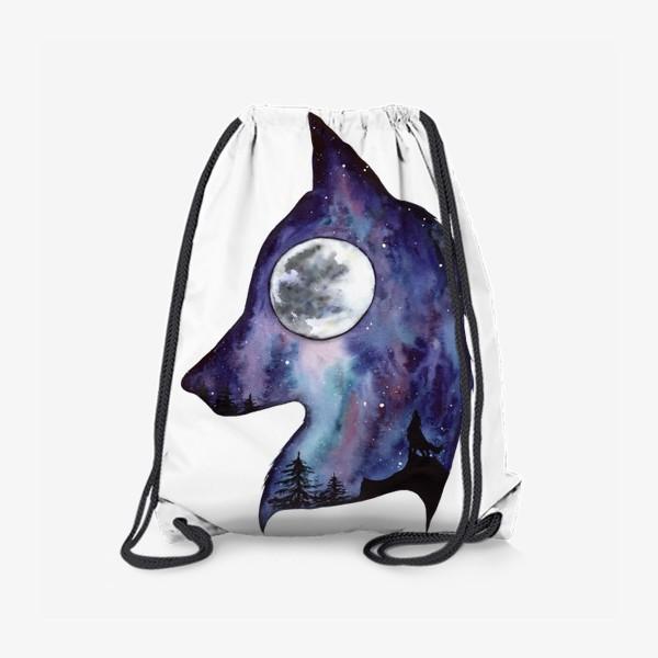 Рюкзак «Волк. Луна и Космос.»
