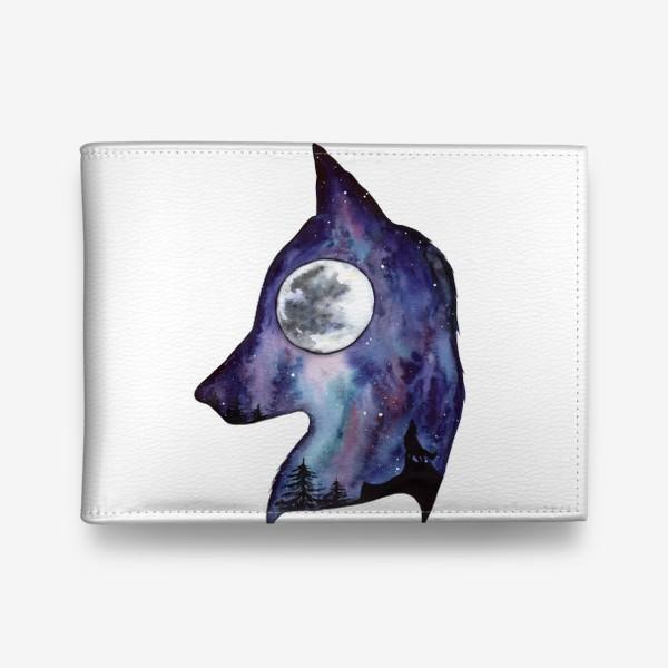 Кошелек «Волк. Луна и Космос.»