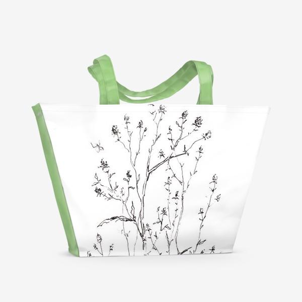 Пляжная сумка «веточки»