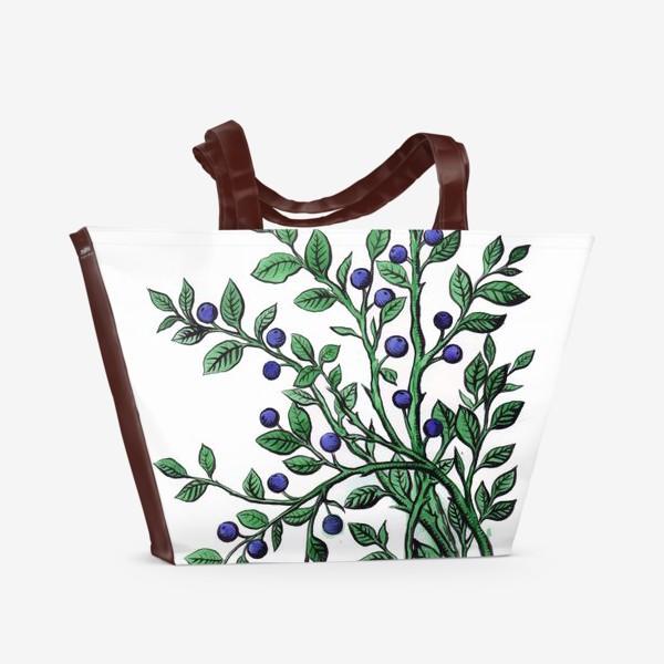 Пляжная сумка «ягода черника»