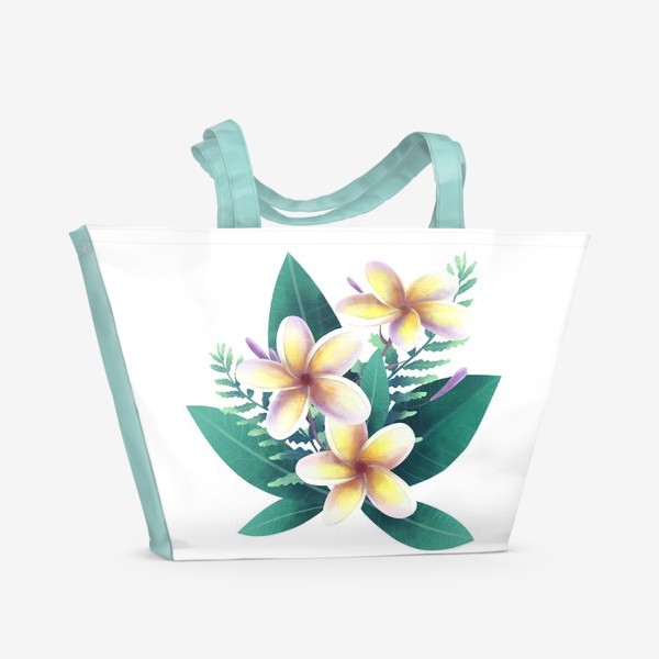 Пляжная сумка «плюмерия»