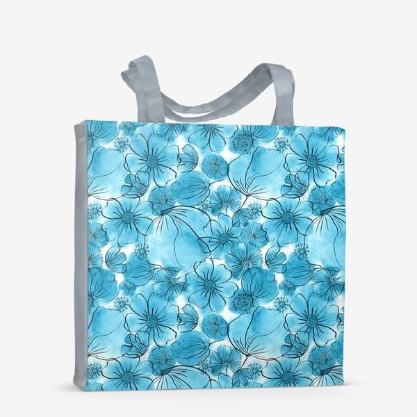 Сумка-шоппер «Голубые цветы»