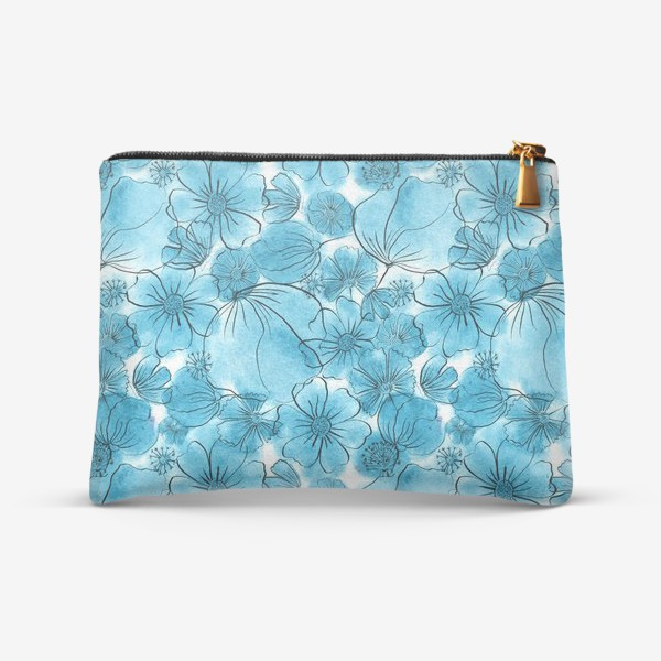 Косметичка «Голубые цветы»