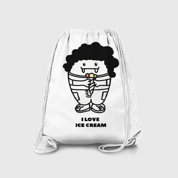 Рюкзак «ЛЮБЛЮ МОРОЖЕНОЕ»