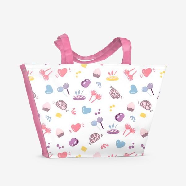 Пляжная сумка «Сладкий паттерн»