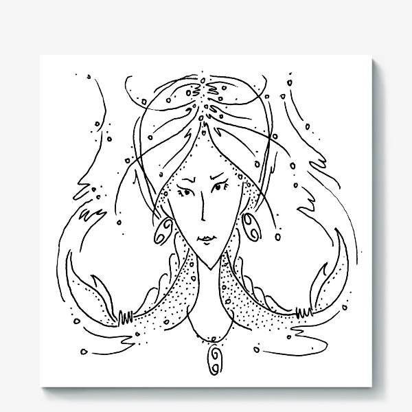 Холст «Рак зодиак»