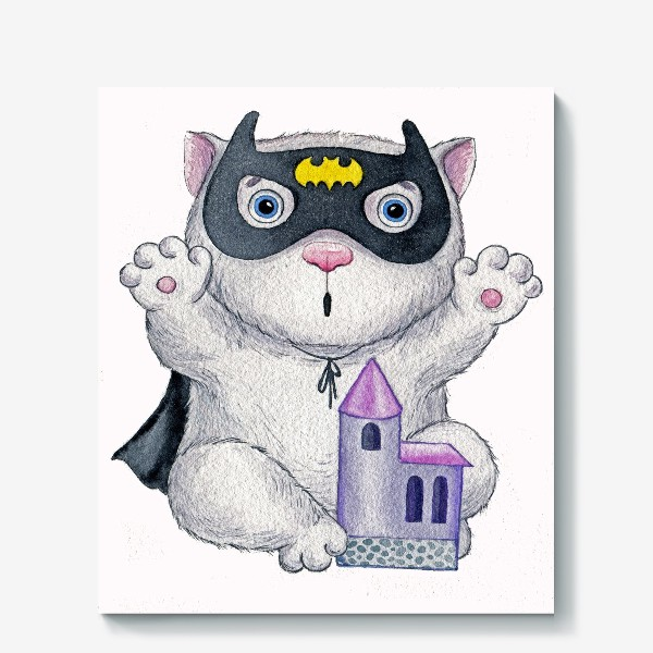 Холст «Кот Бэтмен»