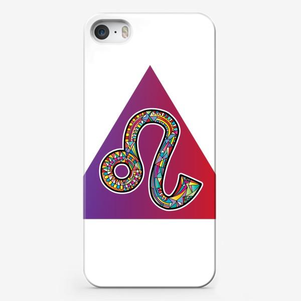 Чехол iPhone «ЛЕВ знак зодиака яркий»