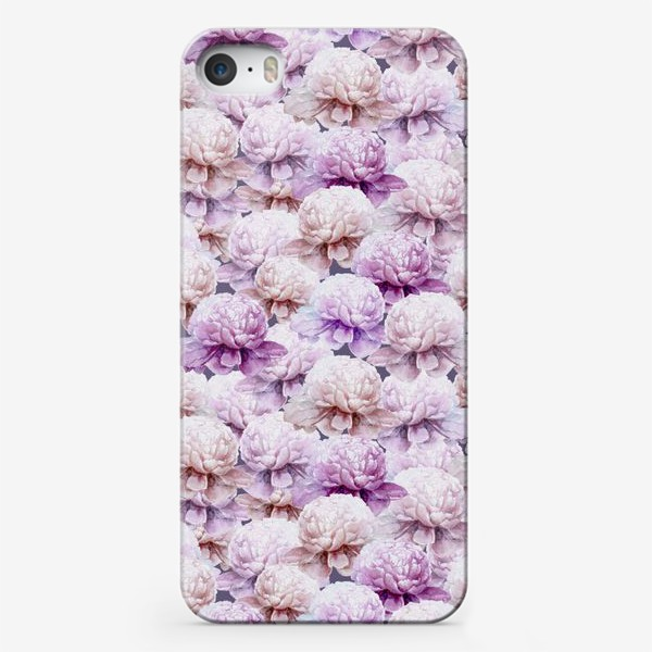 Чехол iPhone «Акварельные пионы»