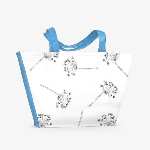 Пляжная сумка «Graphically pattern with fennel seeds»