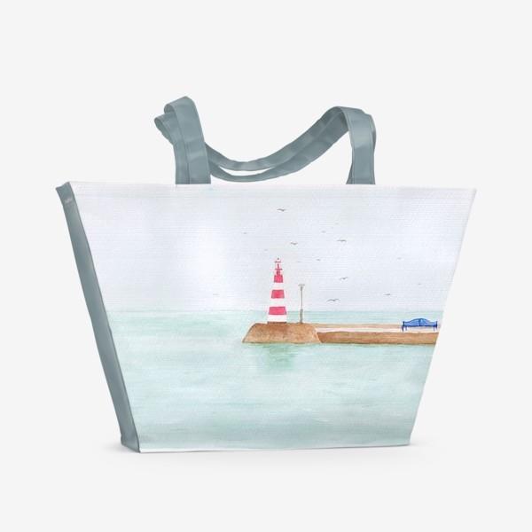 Пляжная сумка «Маяк в тихой гавани»