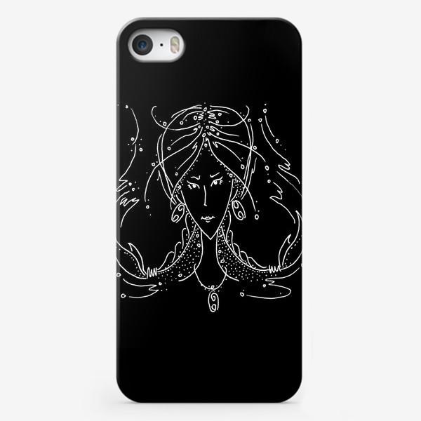 Чехол iPhone «Рак зодиак черный»