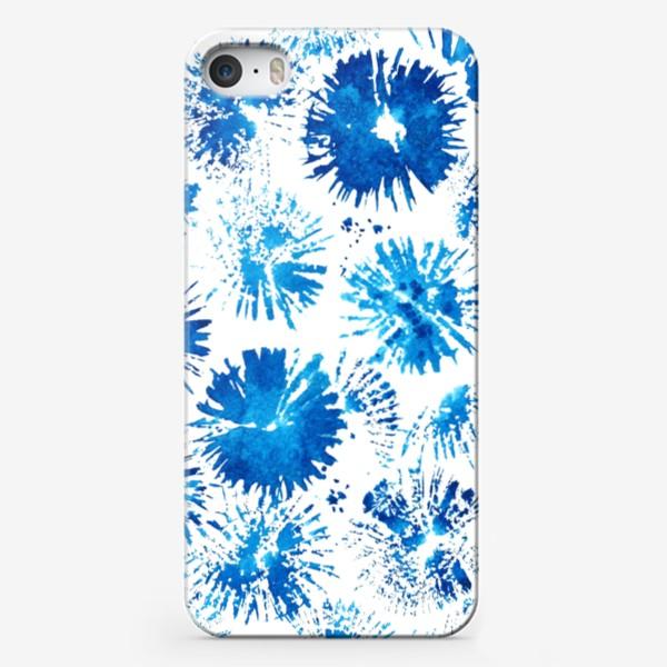 Чехол iPhone «Текстура акварельные васильки»