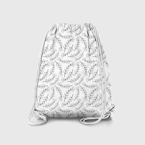 Рюкзак «Изящные веточки. Дизайнерский принт»