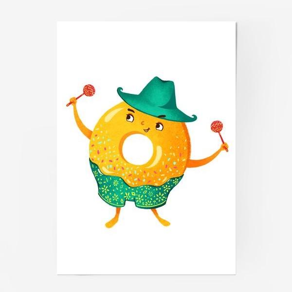 Постер «Гавайский пончик»