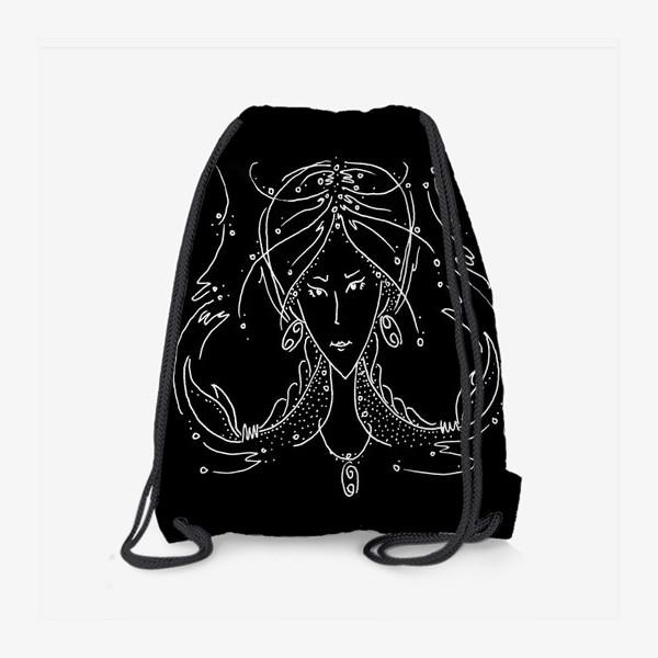 Рюкзак «Рак зодиак черный»