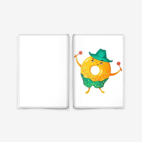 Обложка для паспорта «Гавайский пончик»