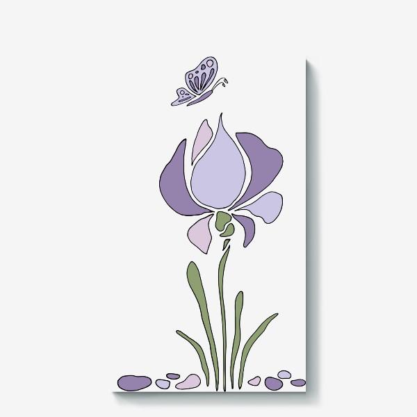 Холст «Стилизованный цветок»