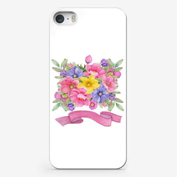 Чехол iPhone «Летний букет маргариток.»